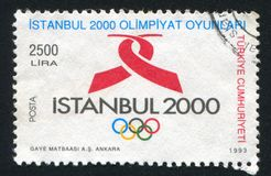 Proposed site. TURKEY- CIRCA 1983: stamp printed by Turkey, shows Istanbul, proposed site for 2000 Olympics, circa 1983 Stock Photo