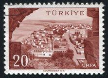 Urfa. TURKEY - CIRCA 1959: stamp printed by Turkey, shows Turkish city, Urfa, circa 1959 Royalty Free Stock Photography
