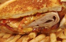 Turkey Club. Photo of Turkey Club Sandwich Stock Photography