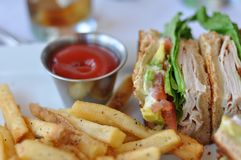 Turkey Club Sandwich Royalty Free Stock Photos