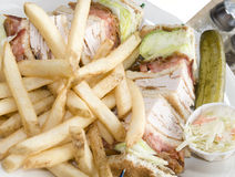 Turkey club sandwich Royalty Free Stock Image
