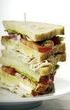 Turkey club sandwich Stock Images