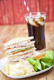 Turkey Club Sandwich Royalty Free Stock Images