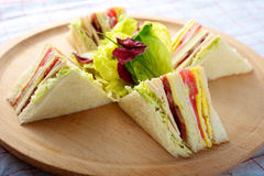 Turkey Club Sandwich Stock Photos