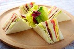 Turkey Club Sandwich Stock Photos