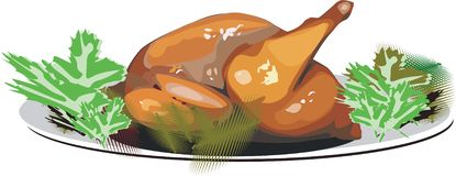 turkey-cock stock de ilustración