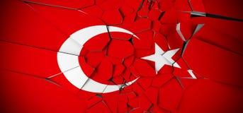 Turkey Concept Flag 免版税库存照片
