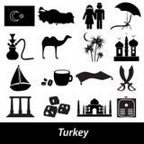 Turkey country theme symbols icons set eps10 Royalty Free Stock Photo