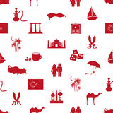 Turkey country theme symbols seamless pattern eps10 Royalty Free Stock Images