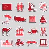 Turkey country theme symbols stickers set eps10 Stock Photo