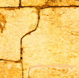 Turkey  and cracked  step   brick in    old wall texture materia Stock Images