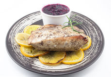 Turkey with cranberry Royalty Free Stock Images