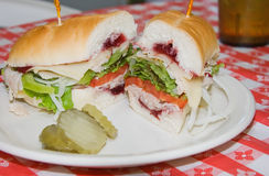 Turkey Cranberry Sandwich Stock Photos