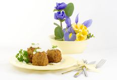 Turkey Croquettes Stock Photo