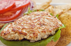 Turkey cutlet tenderized Royalty Free Stock Image