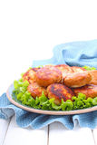Turkey cutlets with lemon peel Royalty Free Stock Photos