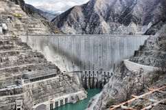 Turkey deep dam artvin. Massive structures,turkey deep dam artvin Stock Photos