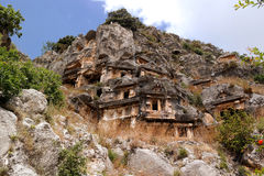 Turkey, Demre. The ancient city in the rock Royalty Free Stock Photos