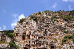 Turkey, Demre. The ancient city in the rock Stock Photography
