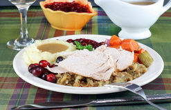 Turkey dinner Stock Images