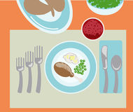 Turkey dinner Royalty Free Stock Images