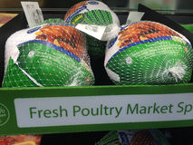 TURKEY DINNER. Bonney Lake .Washington state. USA  _American turkeyat Wlmart and turkey dinner between christmas and new year              28 December   2014 Stock Image