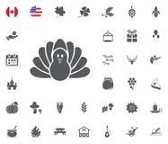 Thanksgiving Day Icon set. Design elements illlustration vector. Turkey dinner icon. Thanksgiving Day Icon set. Design elements illlustration vector Stock Photo