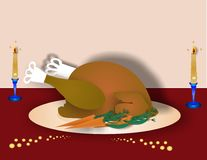Turkey dinner Illustration Stock Photos