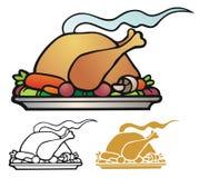 Turkey Dinner Stock Photo