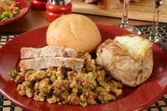 Turkey dinner Royalty Free Stock Photo