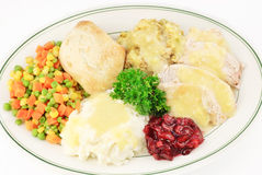 Turkey And Dressing Thanksgiving Meal Royalty Free Stock Photo