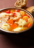 Turkey dumpling soup Stock Photography