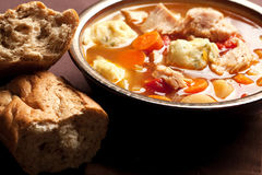 Turkey dumpling soup Royalty Free Stock Photo
