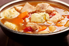 Turkey dumpling soup Stock Photo