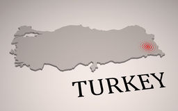Turkey earthquake. Devastating earthquake in eastern Turkey Stock Photo