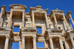 TURKEY, EFES. Beautiful view to the ruins library of Celsus Royalty Free Stock Images