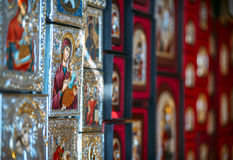 Turkey, Ephesus - July 10, 2014 Religious souvenirs at the House Stock Photos