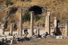 Turkey Ephesus Ruins Stock Photo
