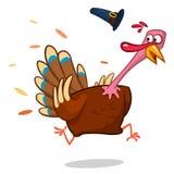Turkey Escape Cartoon Mascot Character Royalty Free Stock Photos