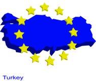 Turkey in EU. Contour map of Turkey as a future EU member Stock Photo