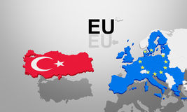 Turkey EU deal is accepted Royalty Free Stock Images