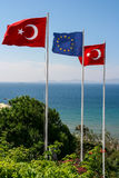 Turkey and the EU flag Stock Photo