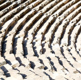 In turkey europe aspendos the old theatre abstract texture of st Royalty Free Stock Image