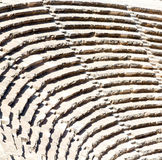 In turkey europe aspendos the old theatre abstract texture of st Royalty Free Stock Images
