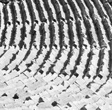 In turkey europe myra  the old theatre abstract texture of ste Stock Photography