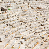 in turkey europe myra  the old theatre abstract texture of ste Royalty Free Stock Images