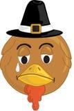 Turkey face. Smiley Sad type turkey face Vector Illustration