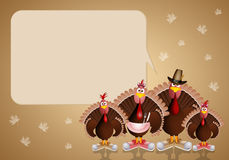 Turkey family for Thanksgiving Day Royalty Free Stock Images