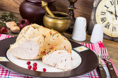 Turkey fillet baked in spices Stock Photo