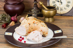 Turkey fillet baked in spices Stock Images